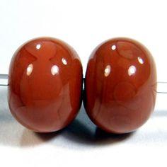 Hawaiian Clay Handmade Lampwork Beads Orange Brown Terracotta 685g | Covergirlbeads - Jewelry on ArtFire