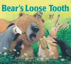Bear's Loose Tooth by Karma Wilson. Use during Dental Health Unit. Dental Health Month, Oral Health, Karma, Loose Tooth, Dental Kids, Kids Dentist, Health Unit, Health Activities, Space Activities