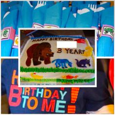 Brown Bear, Brown Bear birthday party theme. Pin to find ideas and pictures to help you plan an Eric Carle theme party!