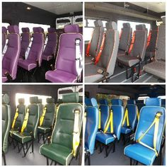 Have you always thought that the seats inside a minibus were boring?  Well, think again!  Here are what some of our customers have had!