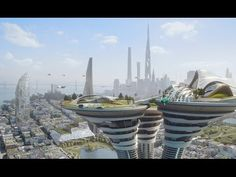 """As part of their campaign """"The Jetsons,"""" manufacturing company Arconic designed a three-mile-high skyscraper with a smog-eating, self-cleaning coating. Dubai, The Jetsons, Futuristic Technology, Technology Design, Technology Gadgets, Travel Gadgets, Futuristic Architecture, Future City, Space Exploration"""