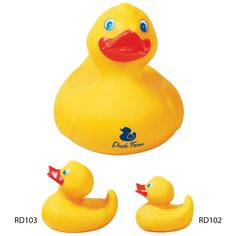 Large Rubber Duck...Fun and lovable rubber duckies were popularized by the Muppet character Ernie on Sesame Street in the 1970's for singing about his duck in the bathtub. This large rubber duck will bring back that nostaligia while promoting your companies message or logo. This is the perfect promotional product for home remodeling companies or children's events. Ducks are not weighted for racing or balanced floating.