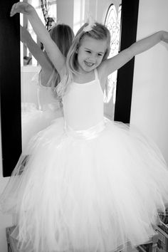 Flower girl tutu's -- just like that :) So cute! I'll have a trio of little ballerina princesses!