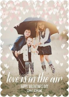 Love Aloft - Valentine's Day Photo Cards with white font.