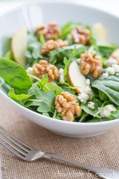 Autumn Salad with Candied Walnuts, Gorgonzola & Apples-Autumn Salad Recipes