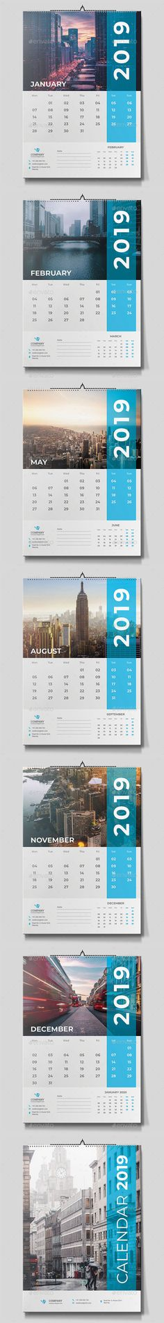 Super Ideas For Wall Illustration Office Graphic Design Calendar 2019 Design, Wall Calendar Design, Calendar 2019 Template, Graphic Design Calendar, Stationery Templates, Stationery Design, Print Templates, Table Calendar, Calendar Calendar