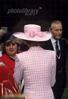 September 26 1989 Diana attends a Service of Thanksgiving and unveiled a new North Transept Window in St. Albans Cathedral, Hertfordshire.