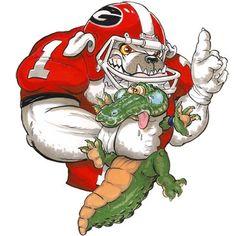 how bout them dawgs! Sec Football, College Football Teams, Georgia Bulldogs, Florida Funny, Bulldog Mascot, License Plate Art, Bulldog Breeds, Georgia Girls, Sports Figures