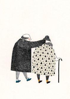 illustration 'Struinen' by Lieke van der Vorst www. Art And Illustration, Grafik Design, Illustrators, Mail Art, Art Drawings, Art Photography, Creations, Sketches, Art Prints