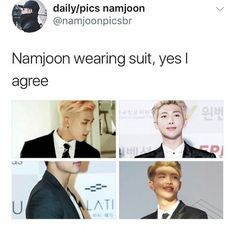 Namjoon in a suit