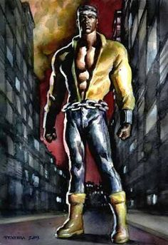 Luke Cage by Mark Texeira - these two should unite more often!