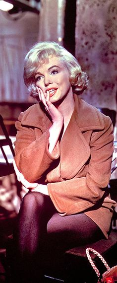 Marilyn on the set of Let's Make Love, 1960.