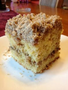 Extra Crumb Cinnamon Struesel Sour Cream Coffee Cake…this recipe is a mouthful. A mouthful meaning it takes a really long time to say, and that you will keep your mouth full as soon as this gets out of the oven. So, I have been trying to eat he Just Desserts, Delicious Desserts, Yummy Food, Baking Recipes, Cake Recipes, Dessert Recipes, Sour Milk Recipes, Frosting Recipes, Sour Cream Coffee Cake