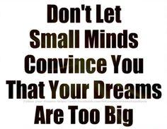 Get away small minds