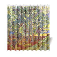 Van Gogh Garden St Paulu0027s Hospital Shower Curtain ...
