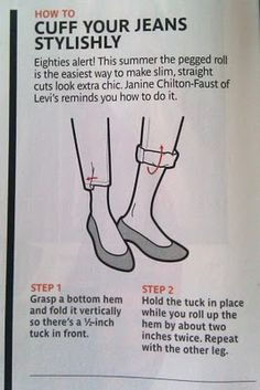 how to roll your jeans...totally!
