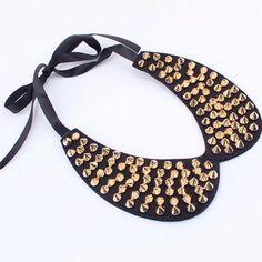 Peter Pan Collar Necklace W/Studs