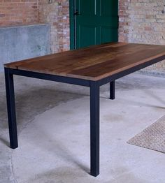 Edge Industrial Wood Dining Table by Maple City Furniture on Scoutmob Shoppe