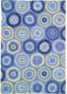 Company C Wool Rug Dandelion Cornflower