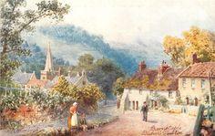BISHOP'S TAWTON British Artists, Cottage Art, Devon, Postcards, Victorian, Places, Painting, Vintage, Painting Art
