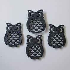 Owl Trivet Set Of 4. dad has this set since before I was born