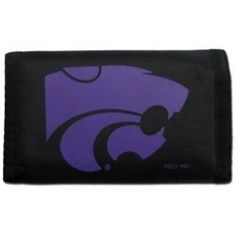 Kansas State Wildcats Official Ncaa Nylon Trifold Wallet Rico Industries 990550, Size: 5 inch x 3 inch, Black