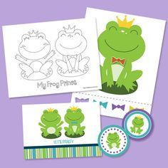 Frog Prince Printable Party Supplies