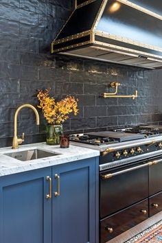 Brass Tap, Island Bench, Kitchen Taps, Cabinet Hardware, Marble Top, Kitchen Inspiration, Kitchen Design, Satin, Architecture