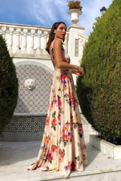 Sexy New Backless Floral Print Maxi Dress Sexy Maxi Dress, Sexy Dresses, Floral Print Maxi Dress, One Piece Swimwear, Look Chic, Types Of Fashion Styles, Dress Brands, Backless, Alba