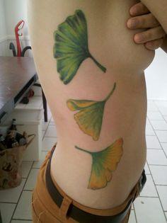 gingko leaf tattoos
