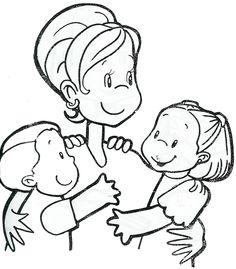 Dibujos Animados Para Colorear Para El Dia De Las Madres