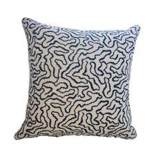 F. Schumacher Linen Embroidered Pillow