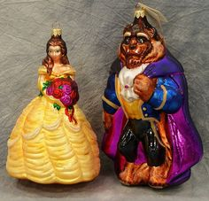 Radco Disney Beauty and the Beast ornaments