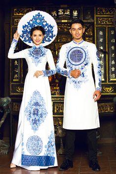 áo dài cô dâu chú rể 2016