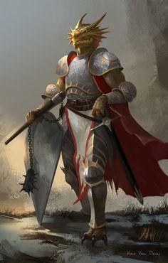 Fantasy Races, Fantasy Warrior, Fantasy Rpg, Medieval Fantasy, Dungeons And Dragons Characters, D&d Dungeons And Dragons, Dnd Characters, Fantasy Characters, Dnd Paladin