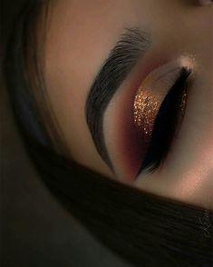 Copper glitter eye shadow