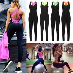 Ropa de Deporte y Aire libre · Womens YOGA Workout Gym Sports Pants Leggings  Fitness Stretch Jumpsuit Trousers Yoga Trousers d44c88a54393