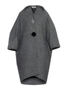 Mini hound's-tooth wool-blend cocoon coat by Balenciaga Girl Dress Patterns, Coat Patterns, Doll Clothes Patterns, Clothing Patterns, Skirt Patterns, Blouse Patterns, Sewing Patterns, Balenciaga Coat, Balenciaga Vintage