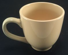 Large Marketplace yellow porcelain coffee cup #Marketplace