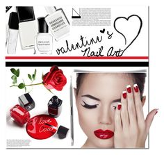 """Valentine's Nail Art"" by es-vee ❤ liked on Polyvore featuring beauty and Tweezerman"
