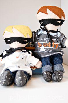 DIY Handmade Dolls for boys..... add a superhero cape and mask (boys need dolls too!)