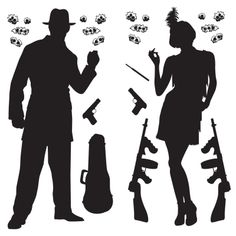 Gangster Scene Add-Ons (Pack of Gangster Party, Gangster Fancy Dress, 1920s Party Decorations, Party Themes, Bonny Und Clyde, Jazz, Photo Zone, Scene Setters, Flapper