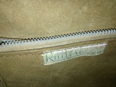 #label of the Amazing #50s two #compartments brown #leather #bag