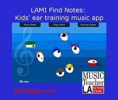 """Adorable musical notes help kids learn to enjoy music and develop their ear for sound in the music app """"LAMI find notes"""". Please visit iTunes for the quick download. #KidApproved #MusicAppforKids #pianoplaying  #pianoforkids #musictheoryforkids"""