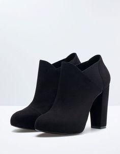 Botin Noche Elastico Bershka. Descubre esta y muchas otras #estaesmimodacom #zapatos #botas #tacon #calzado