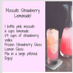 Moscato Strawberry Lemonadr! A definite must try this summer