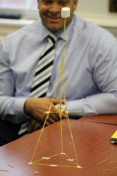 Have you ever heard of The Marshmallow Challenge? The Marshmallow Challenge is a remarkably fun and instructive design exercise that encourages teams to experience simple but profound lessons in collaboration, innovation and creativity. The task is simple: in eighteen minutes, teams must build the tallest free-standing structure out of 20 sticks of spaghetti, one yard of tape, one yard of string, and one marshmallow. The marshmallow needs to be on top.