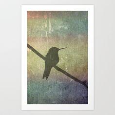 Hummingbird Art Print by Cassie Peters - $14.00