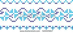 embroidered Ukrainian national pattern cross