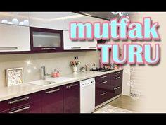 Yeni Gelin Evlerinin Mutfak Dekorasyonu ( Ev Turu ) - YouTube